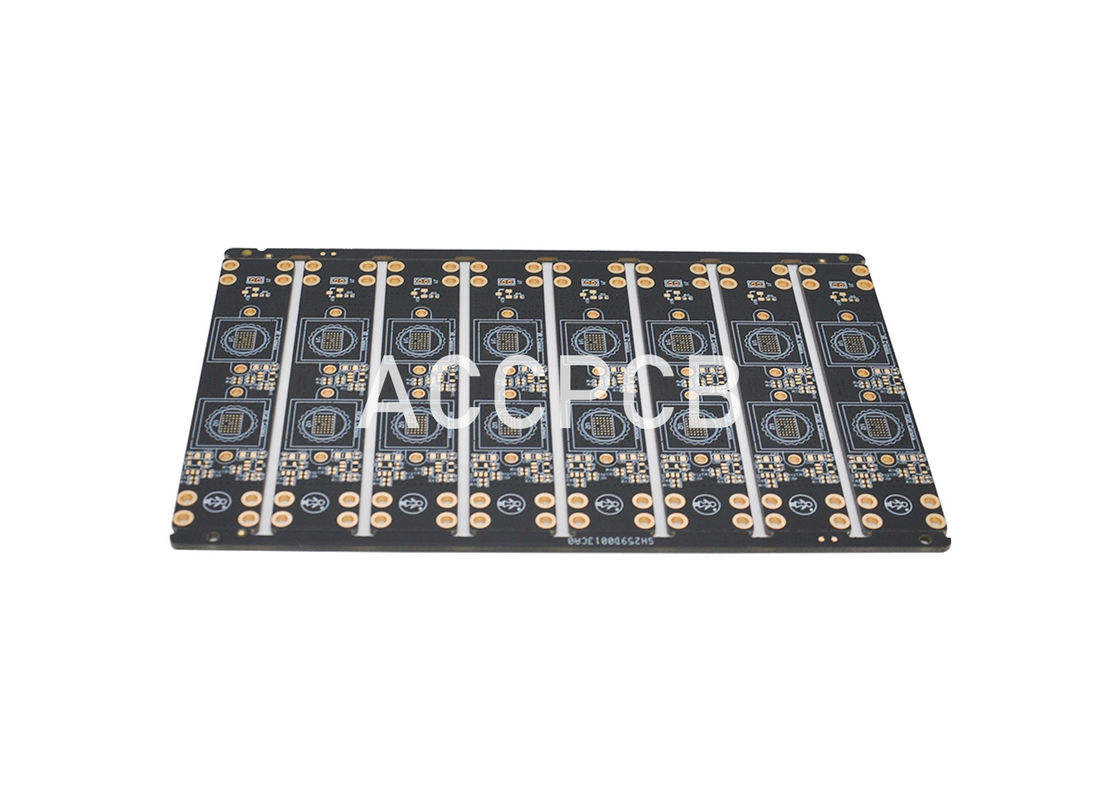Blank Copper PWB Board  0.25mm Thickness and Customizable  Black Solder Mask